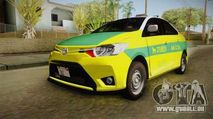 Toyota Vios Sturdy Philippine Taxi 2014 pour GTA San Andreas