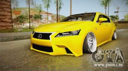 Lexus GS350 F Sport IV Slammed 2013 pour GTA San Andreas
