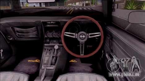 Chevrolet Corvette C3 Stingray pour GTA San Andreas vue intérieure