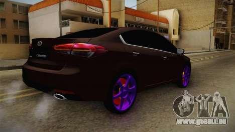 Kia Cerato Eccentric pour GTA San Andreas laissé vue