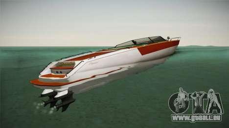 GTA 5 Speeder pour GTA San Andreas sur la vue arrière gauche