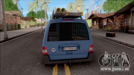 Citroen Berlingo Mk2 Van pour GTA San Andreas sur la vue arrière gauche