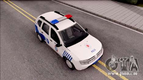 Renault Duster Turkish Police Patrol Car pour GTA San Andreas vue de droite