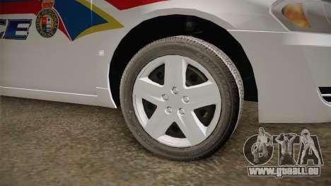 Chevrolet Impala 2006 YRP pour GTA San Andreas vue arrière