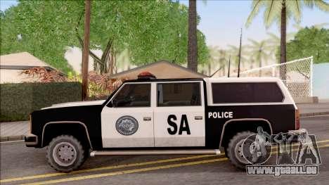 Police Rancher 4 Doors pour GTA San Andreas laissé vue