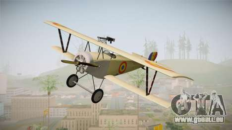 Nieuport 11 Bebe - Nr.1249 Romania für GTA San Andreas zurück linke Ansicht