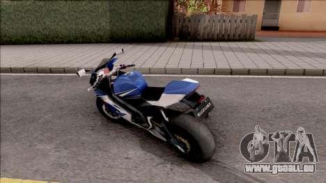 Suzuki GSX-R für GTA San Andreas linke Ansicht