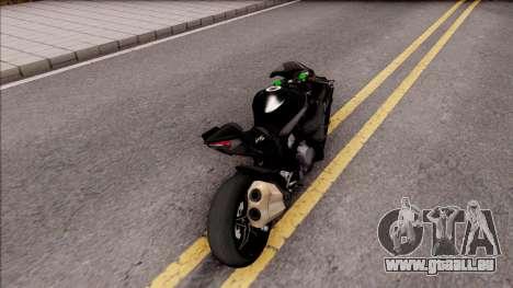 Kawasaki Ninja H2 2017 pour GTA San Andreas sur la vue arrière gauche