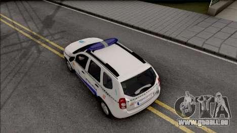 Renault Duster Spanish Police pour GTA San Andreas vue arrière