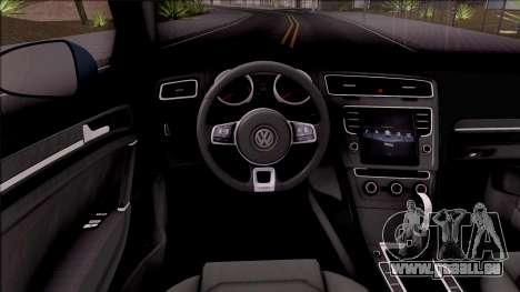 Volkswagen Golf 7 GTI Turkish Airlines pour GTA San Andreas vue intérieure