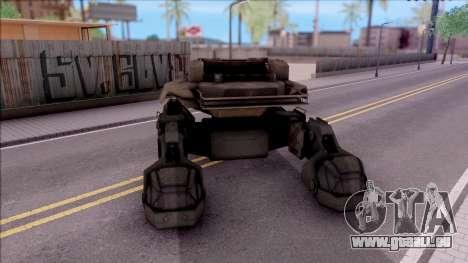 Mobile Art-Installation COD: Advance Warfare pour GTA San Andreas sur la vue arrière gauche