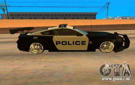 Ford Mustang GT 2015 Police Car für GTA San Andreas linke Ansicht