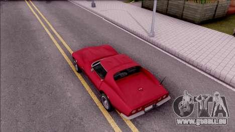 Chevrolet Corvette C3 Stingray pour GTA San Andreas vue arrière
