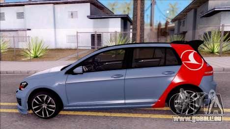 Volkswagen Golf 7 GTI Turkish Airlines pour GTA San Andreas laissé vue