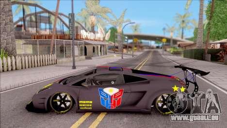 Lamborghini Gallardo Philippines v2 für GTA San Andreas linke Ansicht