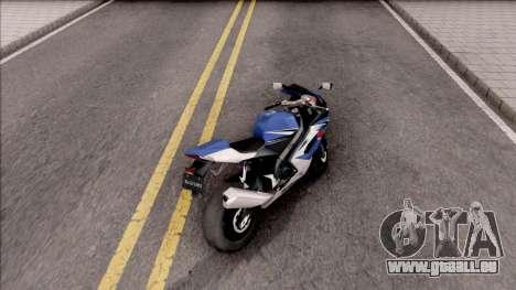 Suzuki GSX-R für GTA San Andreas zurück linke Ansicht