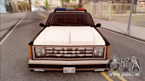 Police Rancher 4 Doors pour GTA San Andreas vue intérieure