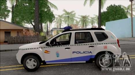 Renault Duster Spanish Police pour GTA San Andreas laissé vue