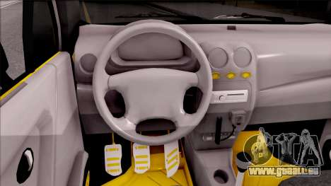 Daewoo Matiz Taxi für GTA San Andreas Innenansicht
