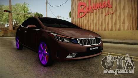 Kia Cerato Eccentric pour GTA San Andreas sur la vue arrière gauche