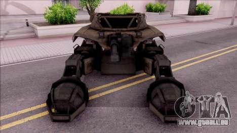 Mobile Art-Installation COD: Advance Warfare pour GTA San Andreas vue intérieure