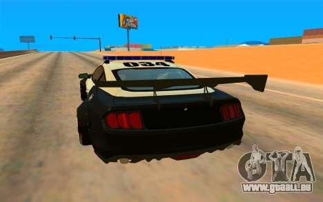 Ford Mustang GT 2015 Police Car für GTA San Andreas