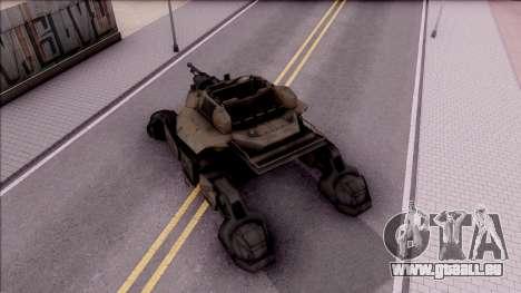 Mobile Art-Installation COD: Advance Warfare pour GTA San Andreas vue arrière