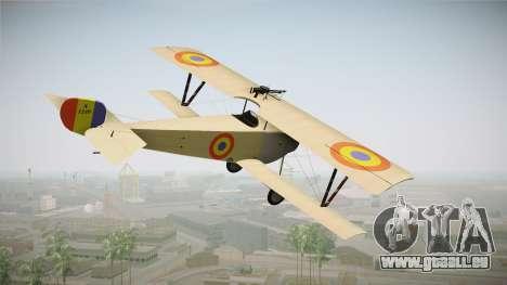 Nieuport 11 Bebe - Nr.1249 Romania für GTA San Andreas linke Ansicht
