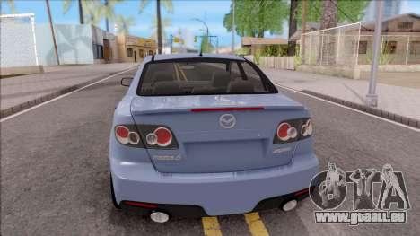 Mazda 6 MPS für GTA San Andreas zurück linke Ansicht