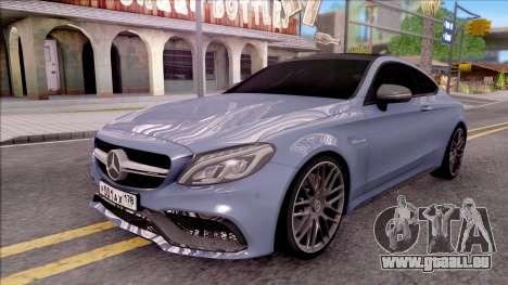 Mercedes-Benz C63S AMG Coupe 2016 v2 pour GTA San Andreas