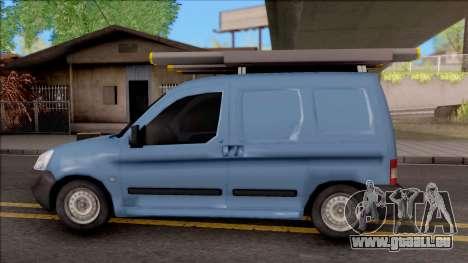 Citroen Berlingo Mk2 Van pour GTA San Andreas laissé vue