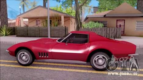 Chevrolet Corvette C3 Stingray pour GTA San Andreas laissé vue