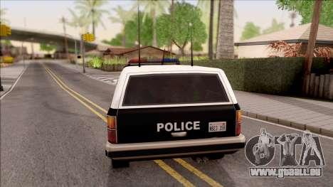 Police Rancher 4 Doors pour GTA San Andreas sur la vue arrière gauche