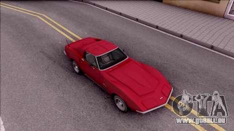 Chevrolet Corvette C3 Stingray pour GTA San Andreas vue de droite
