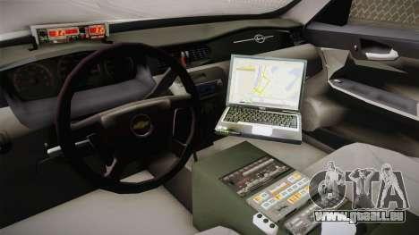Chevrolet Impala 2006 YRP pour GTA San Andreas vue intérieure