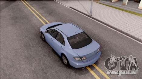 Mazda 6 MPS für GTA San Andreas Rückansicht