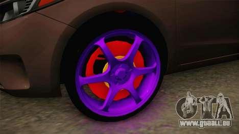 Kia Cerato Eccentric pour GTA San Andreas vue arrière