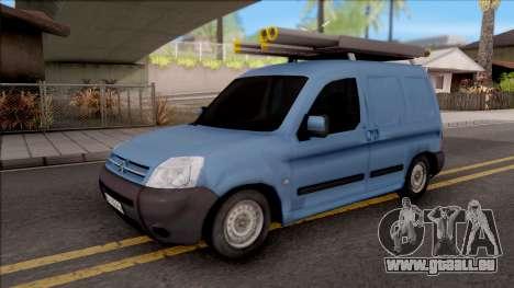 Citroen Berlingo Mk2 Van pour GTA San Andreas