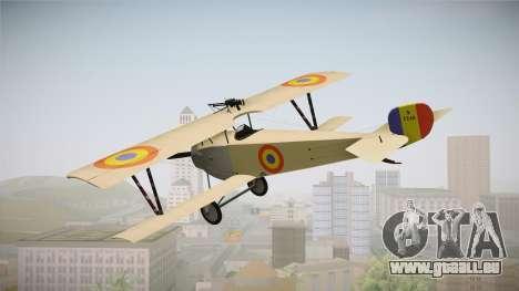 Nieuport 11 Bebe - Nr.1249 Romania für GTA San Andreas rechten Ansicht