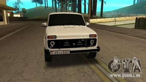 VAZ 2121 ARM pour GTA San Andreas vue arrière
