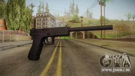 Glock 17 3 Dot Sight with Long Barrel pour GTA San Andreas
