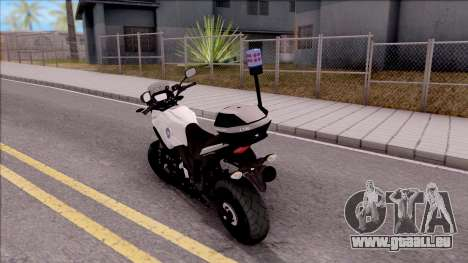 Honda CB500X Turkish Traffic Police Motorcycle pour GTA San Andreas laissé vue