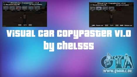 Visual Car Copypaster v1.0 pour GTA San Andreas