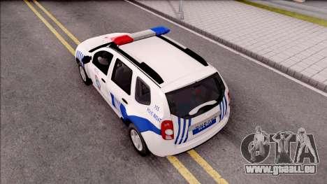 Renault Duster Turkish Police Patrol Car pour GTA San Andreas vue arrière
