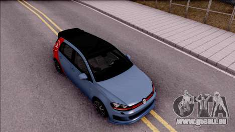 Volkswagen Golf 7 GTI Turkish Airlines pour GTA San Andreas vue de droite
