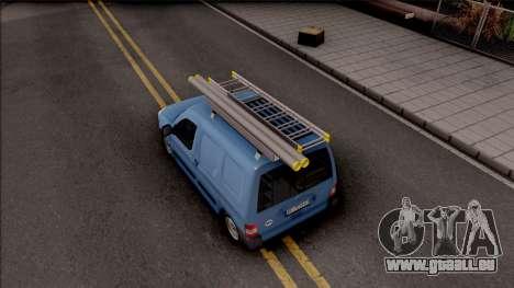 Citroen Berlingo Mk2 Van pour GTA San Andreas vue arrière
