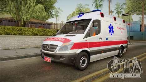 Mercedes-Benz Sprinter Iranian Ambulance pour GTA San Andreas