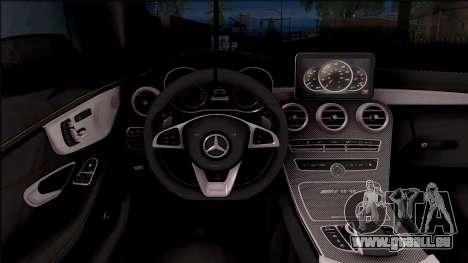 Mercedes-Benz C63S AMG Coupe 2016 v2 pour GTA San Andreas vue intérieure