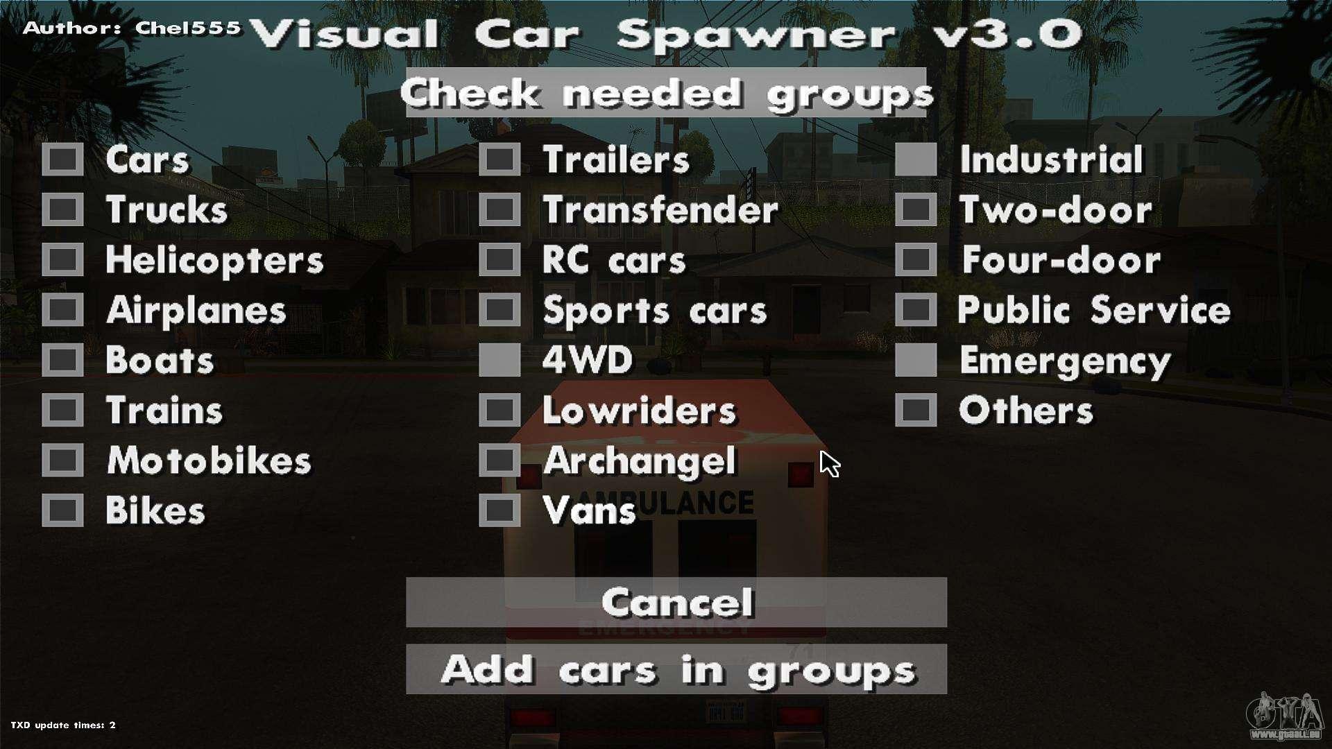 Gta  Car Spawner Trainer
