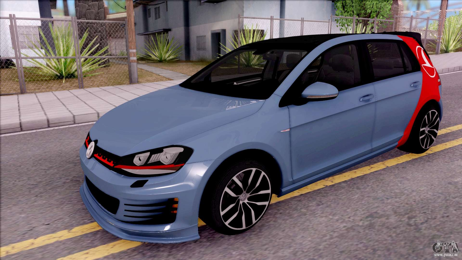 volkswagen golf 7 gti turkish airlines pour gta san andreas. Black Bedroom Furniture Sets. Home Design Ideas